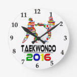 2016: El Taekwondo Reloj De Pared