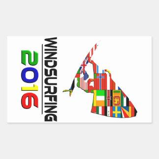 2016: El Windsurfing Pegatina Rectangular