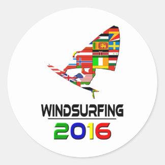 2016: El Windsurfing Pegatina Redonda