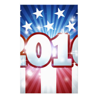 2016 Election American Flag Concept Stationery