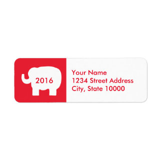 2016 Election Red White Elephant Republican Label