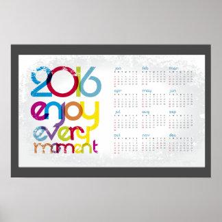 2016 Enjoy Every Moment Poster Calendar