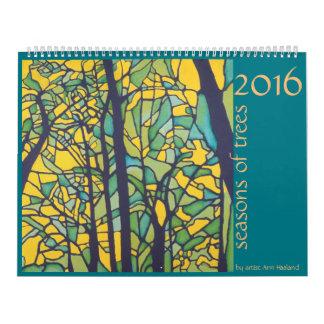 2016 estaciones de árboles calendarios de pared
