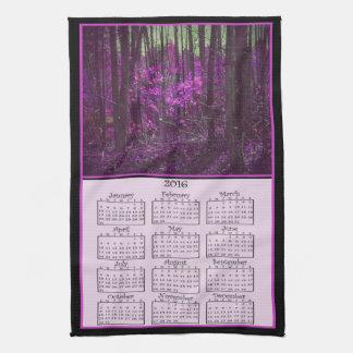 2016 Faded Lavender Dreams Cloth Calendar Kitchen Towels