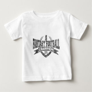 2016 Fantasy Football Champion Football V Outline Baby T-Shirt
