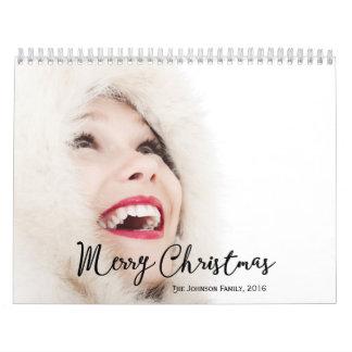 2016 Felices Navidad personalizadas de los Calendarios De Pared