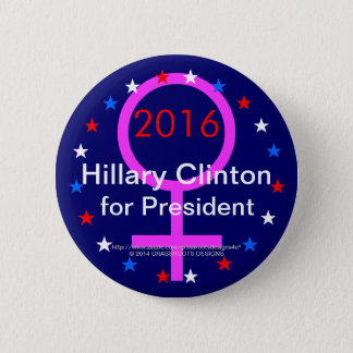 """2016 """"Female Sign"""" Hillary Clinton for President Pinback Button"""