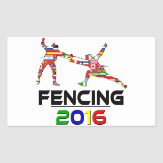 2016: Fencing Rectangle Stickers