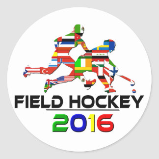 2016: Field Hockey Classic Round Sticker