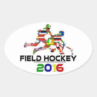 2016: Field Hockey Oval Sticker