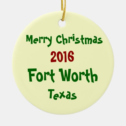 home decor stores in fort worth texas 2016 fort worth merry christmas ornament zazzle 13601
