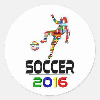 2016: Fútbol Pegatina Redonda