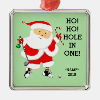 "2016 golf ""hole in one"" keepsake metal ornament"