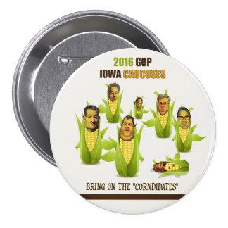 2016 GOP Iowa Caucuses Pinback Button