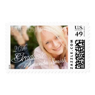 2016 Grad Girly Photo Graduation Postage Stamp