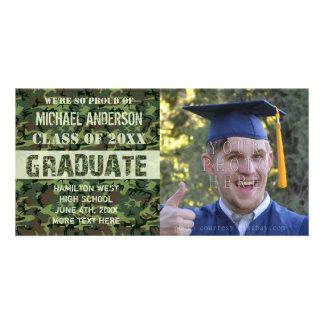 2016 Graduation Camouflage Custom Photo Green Card