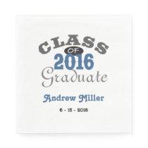 2016 Graduation Party - Blue Paper Napkin
