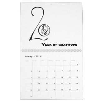 2016 Gratitude Calendar