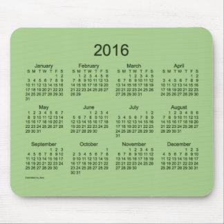2016 Green Calendar by Janz Mousepad
