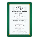 2016 Green & Gold Formal Graduation Party Invite