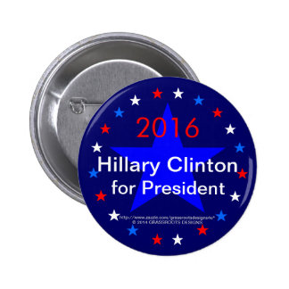 2016 Hillary Clinton for President Pinback Buttons