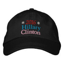 2016 HILLARY CLINTON (Red, White, Blue, Pink) Embroidered Hats