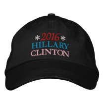 2016 HILLARY CLINTON (Red, White, Blue, Pink) Embroidered Baseball Caps