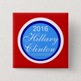 2016 Hillary Clinton Square Button