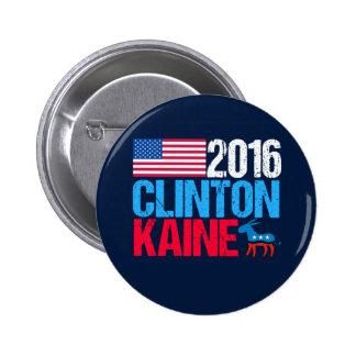 2016 Hillary Clinton Tim Kaine Pinback Button