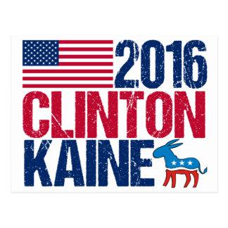 2016 Hillary Clinton Tim Kaine Postcard