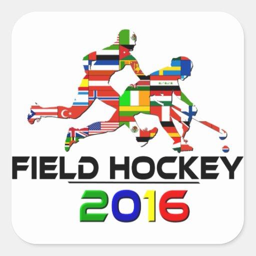 2016: Hockey hierba Calcomanías Cuadradas