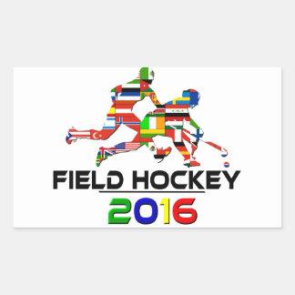 2016: Hockey hierba Rectangular Pegatina