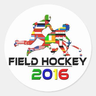 2016: Hockey hierba Pegatina Redonda