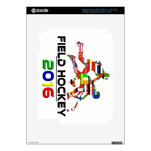 2016: Hockey hierba Pegatinas Skins Para iPad 3