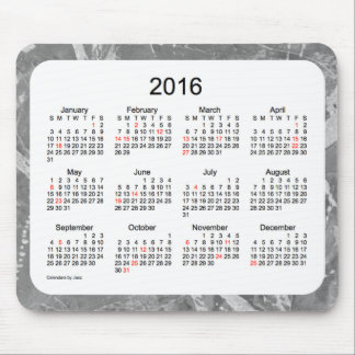 2016 Holiday Calendar by Janz Silver Mouse Pad