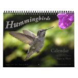 2016 Hummingbird Wall Calendar