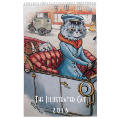 2016 Illustrated Cats Calendar - Louis Wain at Zazzle