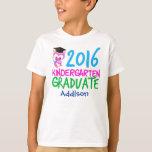 2016 Kindergarten Graduate Girl Cute Owl T-Shirt