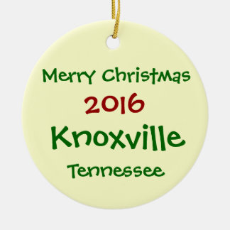 2016 Knoxville Tennessee CHRISTMAS ORNAMENT