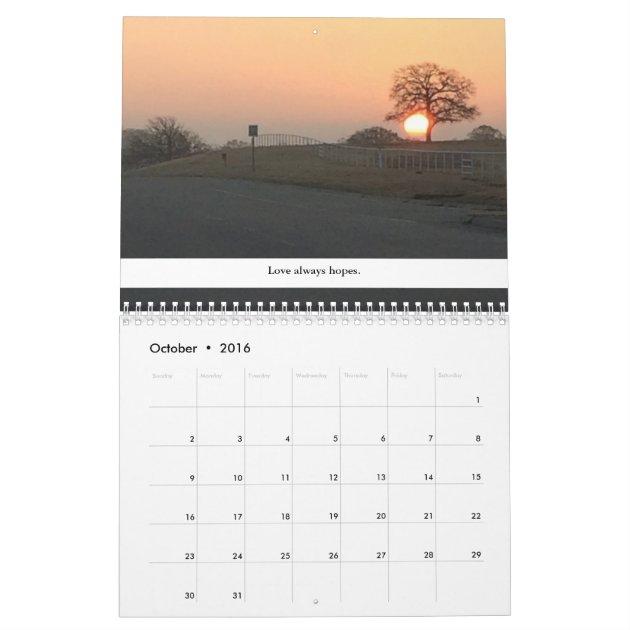 Southwest Calendar | Calendar Template 2016