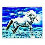 2016 Large Unicorn Dreams Airbrush Art Calendar