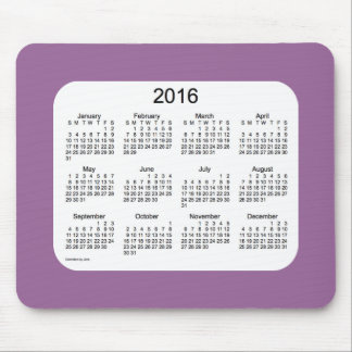 2016 Lavender Calendar by Janz Mousepad