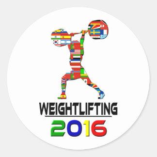 2016: Levantamiento de pesas Pegatina Redonda