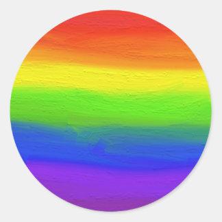2016 LOVE = LOVE Rainbow Classic Round Sticker