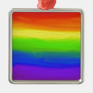 2016 LOVE = LOVE Rainbow Metal Ornament