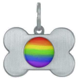 2016 LOVE = LOVE Rainbow Pet Tag