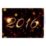 2016 (luces del bokeh) tarjeta pequeña
