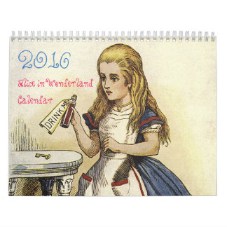 2016 Medium Alice in Wonderland Calendar