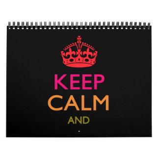 2016 mensuales personalizados GUARDAN CALMA Y su Calendario