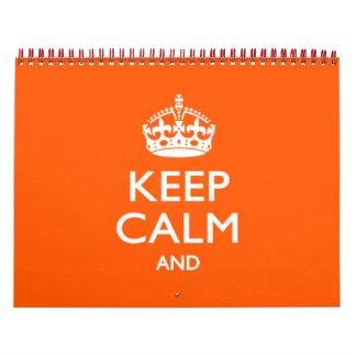 2016 mensuales personalizados GUARDAN CALMA Y su Calendarios De Pared